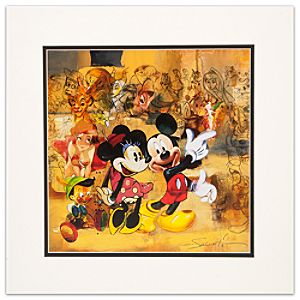 D23 25th Anniversary Disney Lithograph