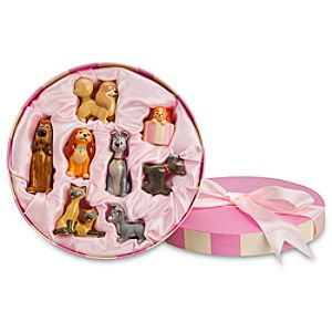 Limited Edition Disney Store 25th Anniversary Lady and the Tramp Figurine Set -- 8-Pc.