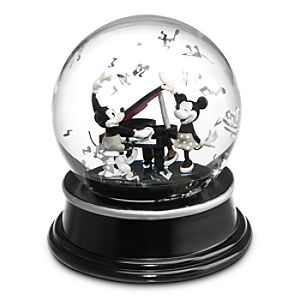 Mickey and Minnie Mouse 1928 Snow Globe
