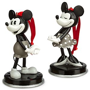 Mickey and Minnie Mouse 1928 Ornament Set