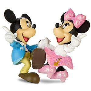 Jitterbug Minnie and Mickey Mouse Figurine