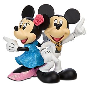 Disco Minnie and Mickey Mouse Figurine