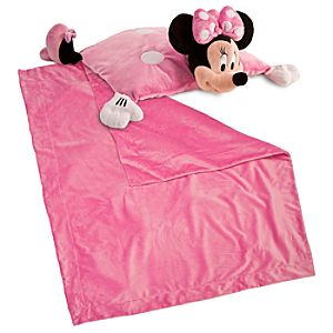 Cuddly Characters Blanket and Pillow Set -- Minnie Mouse