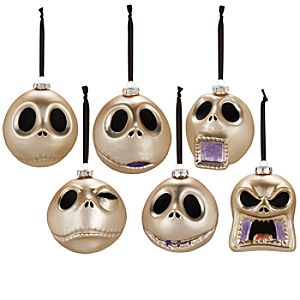 Faces of Jack Skellington Ornament Set -- 6 Pc.