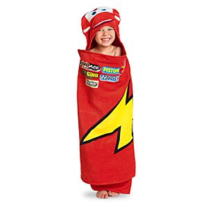 Hooded Lightning McQueen Towel