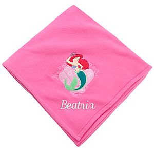 Personalizable Fleece Throw Ariel Blanket