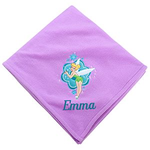 Personalizable Fleece Throw Tinker Bell Blanket