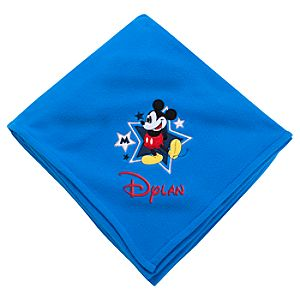 Personalizable Fleece Throw Mickey Mouse Blanket