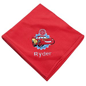 Personalized Lightning McQueen Fleece Throw Blanket