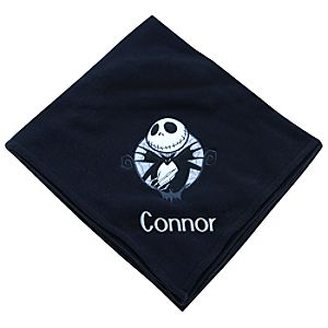Personalizable Fleece Throw Jack Skellington Blanket