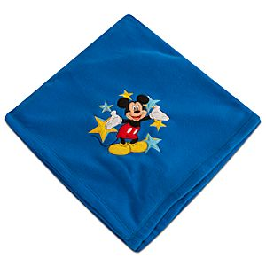 Personalizable Mickey Mouse Fleece Blanket