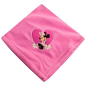 Personalizable Minnie Mouse Fleece Blanket