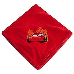 Personalizable Lightning McQueen Fleece Blanket