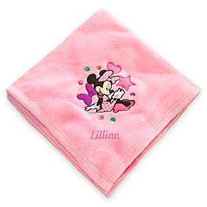 Minnie Mouse Throw Blanket - Personalizable