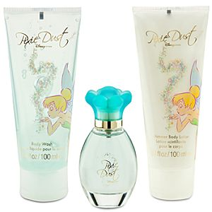 Pixie Dust Disney Store Shimmer Body Lotion, Eau De Toilette, and Body Wash Boxed Set -- 3-Pc.