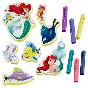 Ariel Crayon and Sticker Bath Set