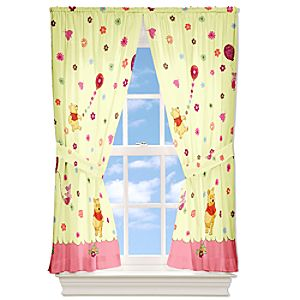 Cheerful and Friendly Winnie the Pooh Curtain Set