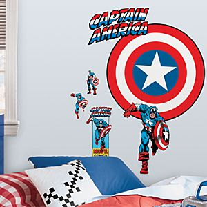 Captain America Wall Graphic Set
