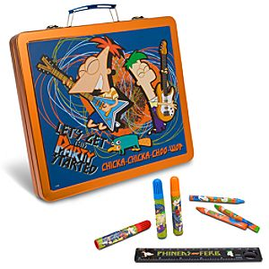 Tin Phineas and Ferb Art Case