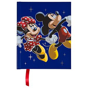 Disney Store 25th Anniversary Minnie Mouse and Mickey Mouse Journal