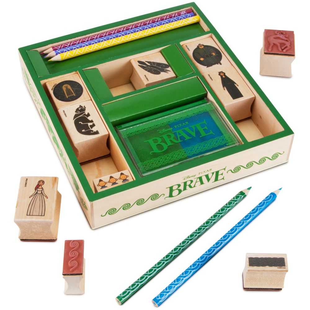 Brave Wooden Stamp Set