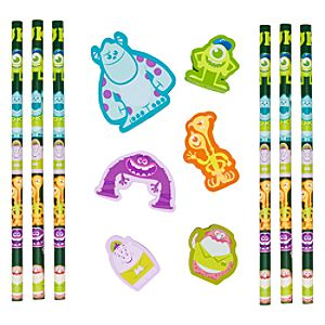 Monsters University Pencil and Eraser Set