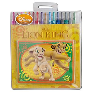 The Lion King Twist Crayon and Notebook Set
