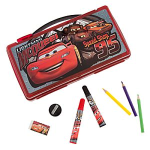 Cars 2 Lightning McQueen Art Kit Case