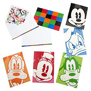 Mickey Mouse and Friends Portrait Note Card Set
