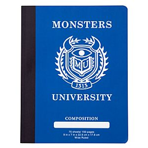Monsters University Composition Book