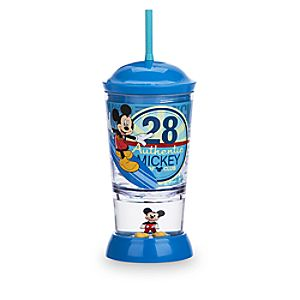 Mickey Mouse Snowglobe Tumbler with Straw