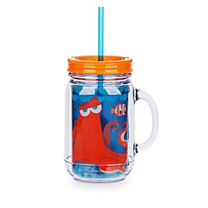 Finding Dory Jelly Jar with Straw - Large