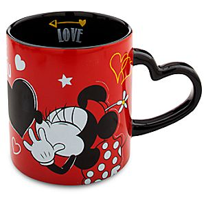Minnie Mouse Heart Mug - I Love Mickey Collection