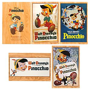 Pinocchio Lithograph Set - Limited Edition