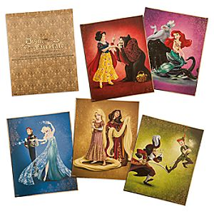 Disney Fairytale Designer Collection Limited Edition Lithograph Set