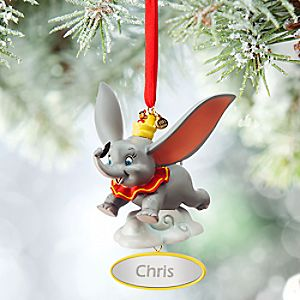 Dumbo and Timothy Sketchbook Ornament - Personalizable
