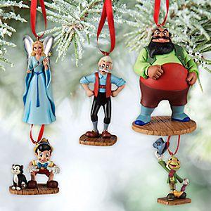 Pinocchio Sketchbook Ornament Set