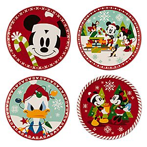 Mickey Mouse Holiday Plate Set - Small