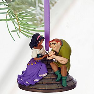 Quasimodo and Esmeralda Sketchbook Ornament - The Hunchback of Notre Dame - Personalizable