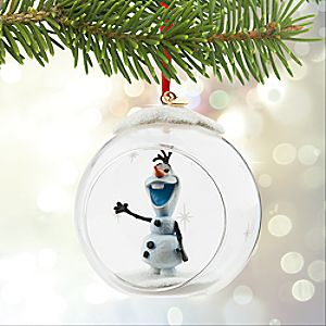 Olaf Glass Globe Sketchbook Ornament