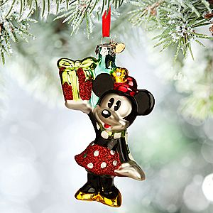 Minnie Mouse Glass Sketchbook Ornament