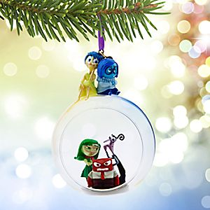 disneypixar inside out glass globe sketchbook ornament