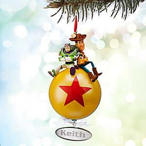 Buzz Lightyear and Woody Sketchbook Ornament - Personalizable