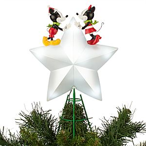 Mickey and Minnie Mouse Light-Up Tree Topper