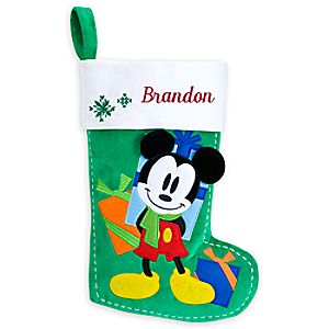 Mickey Mouse Holiday Stocking - Personalizable - 17