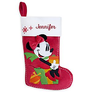 Minnie Mouse Holiday Stocking - Personalizable - 17