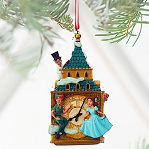 Peter Pan and Darling Children Sketchbook Ornament - Personalizable