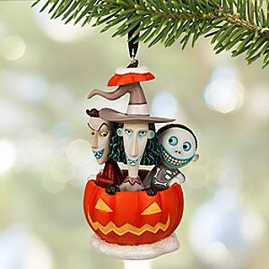 Lock, Shock & Barrel Sketchbook Ornament - The Nightmare Before Christmas