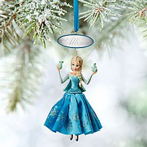 Elsa Sketchbook Ornament - Personalizable