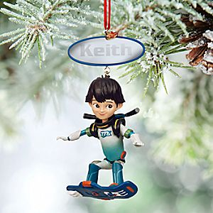Miles Sketchbook Ornament - Personalizable